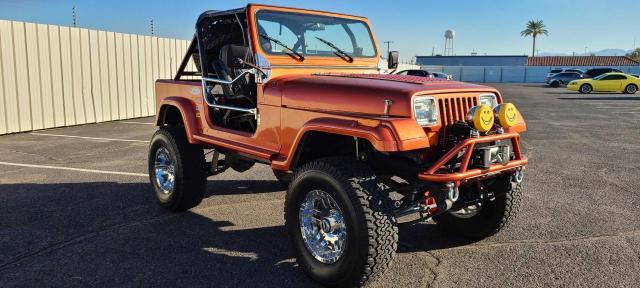 Jeep Wrangler salvage cars for sale: 1987 Jeep Wrangler