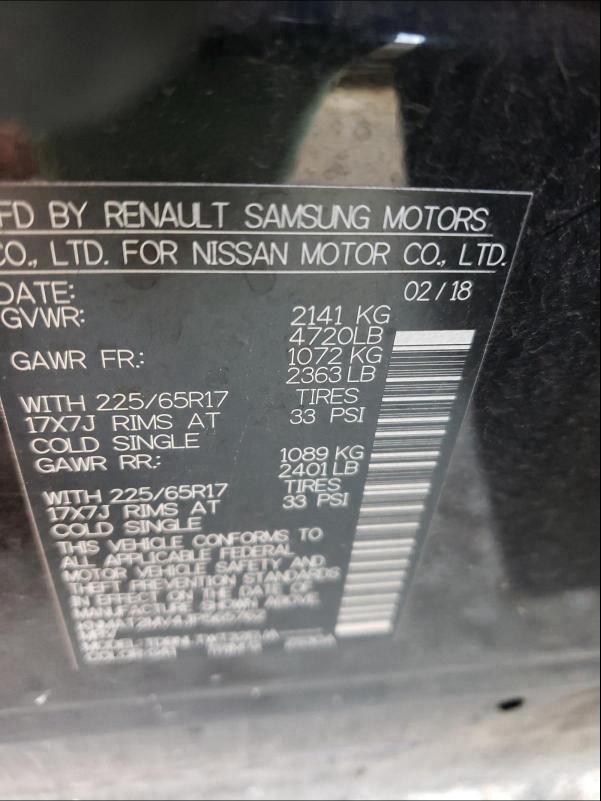 KNMAT2MV4JP565762 2018 Nissan Rogue S 2.5L