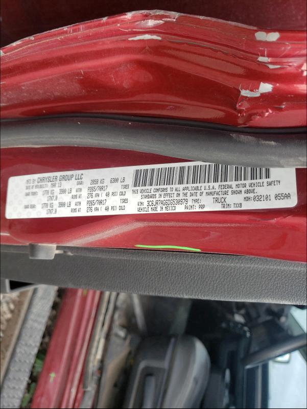 2013 RAM 1500 ST 3C6JR7AG6DG530979