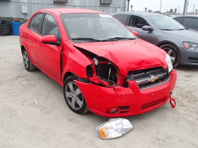 KL1TG5DE4BB129076  2011 red Chevrolet Aveo Lt on Sale in San