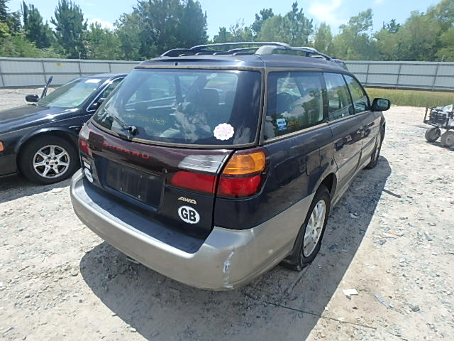 4S3BH665017673158 - 2001 SUBARU LEGACY OUT 2.5L rear view