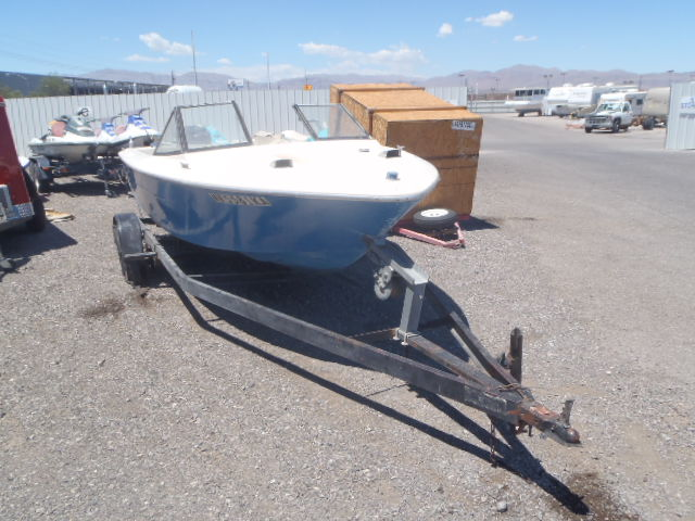 Salvage 1991 Boat W TRAILER for sale
