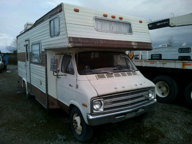 auto auction ended on vin c30bf6v087828 1976 dodge motorhome in wa