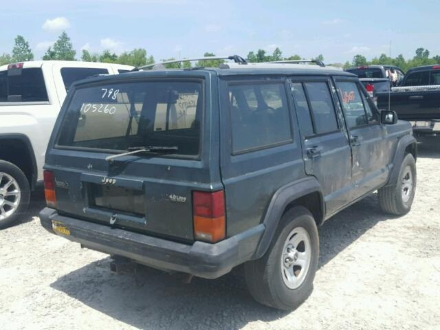 1J4FT68S2PL597973 - 1993 JEEP CHEROKEE S 4.0L rear view