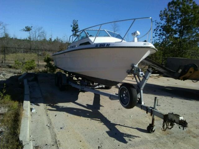 Salvage 1988 Wells Cargo BOAT WITH TRAILER for sale