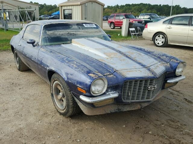 1971 Chevrolet Camaro Ss For Sale At Copart Houston Tx