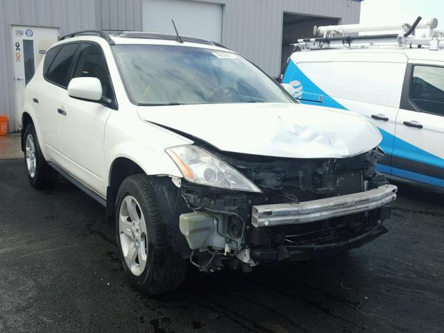 Jn8az08w35w412330 2005 White Nissan Murano Sl On Sale In Mo