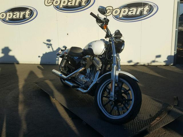 1HD4CR230FC443243 | 2015 WHITE HARLEY-DAVIDSON XL883 SUPE on Sale in