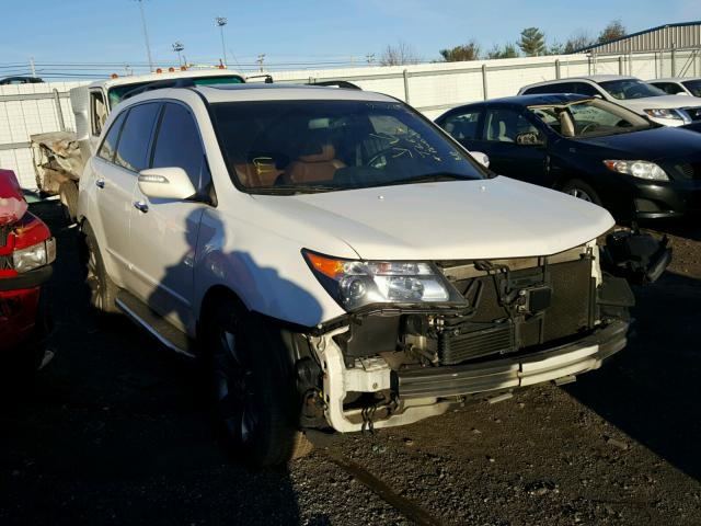 2hnyd2h76ah505908 2010 white acura mdx advanc on sale in md