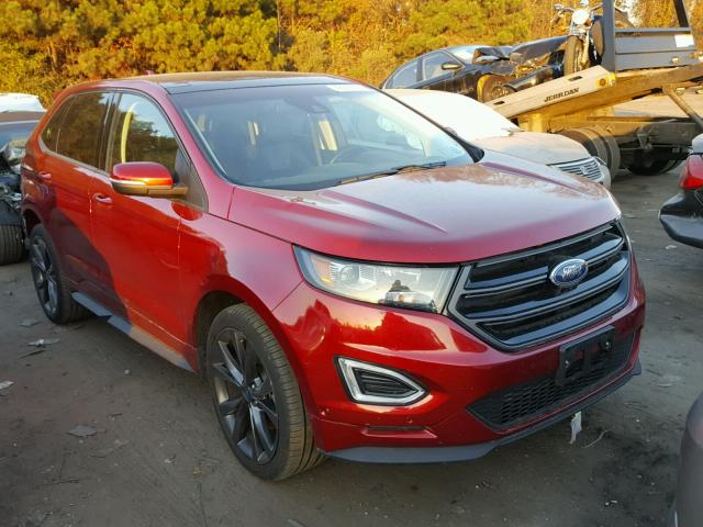 2015 ford edge sport for sale nc raleigh salvage cars copart usa. Black Bedroom Furniture Sets. Home Design Ideas