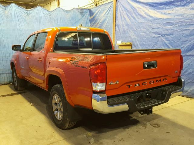 5TFCZ5ANXGX014614 | 2016 ORANGE TOYOTA TACOMA DOU on Sale ...