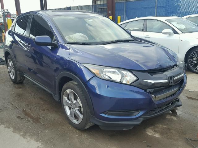 2017 honda hr v lx for sale fl tampa south salvage cars copart usa. Black Bedroom Furniture Sets. Home Design Ideas