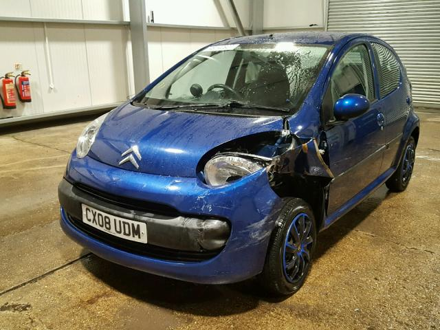 2008 citroen c1 rhythm for sale at copart uk salvage car auctions. Black Bedroom Furniture Sets. Home Design Ideas