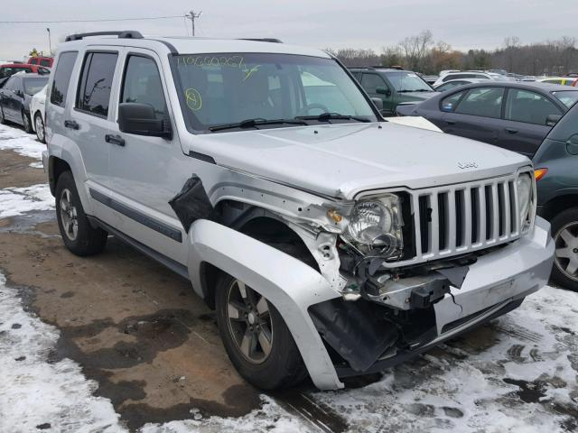 1j8gn28k58w267542 2008 Silver Jeep Liberty Sp On Sale In Ct