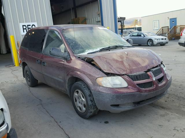 Auto Auction Ended on VIN: 1B4GP253X2B644294 2002 DODGE CARAVAN SE