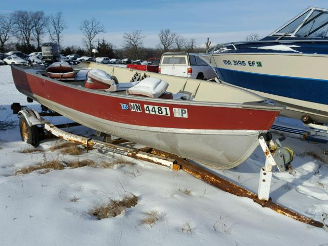 Salvage 1982 Lund BOAT WITH TRAILER for sale