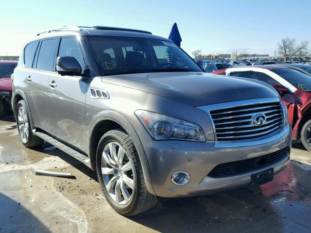 2014 infiniti qx80 for sale tx dallas salvage cars copart usa. Black Bedroom Furniture Sets. Home Design Ideas