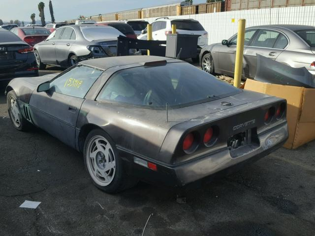 1g1yy2182k5113183 1989 Gray Chevrolet Corvette On Sale