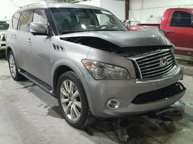 2014 infiniti qx80 for sale ok tulsa salvage cars copart usa. Black Bedroom Furniture Sets. Home Design Ideas