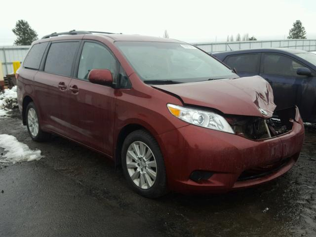 2015 toyota sienna le for sale wa spokane salvage cars copart usa. Black Bedroom Furniture Sets. Home Design Ideas