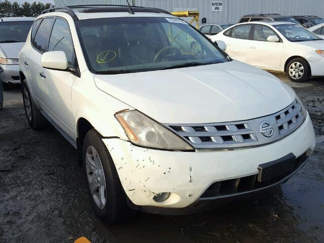 Jn8az08w45w437513 2005 White Nissan Murano Sl On Sale In Nj