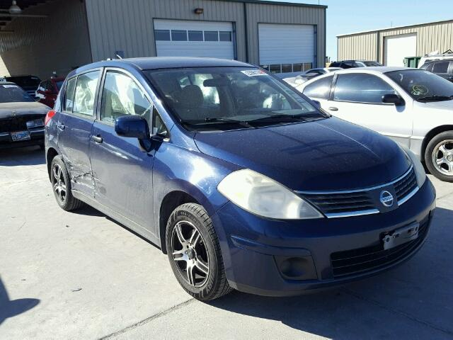 3n1bc13e27l453016 2007 Blue Nissan Versa S On Sale In Tx Dallas