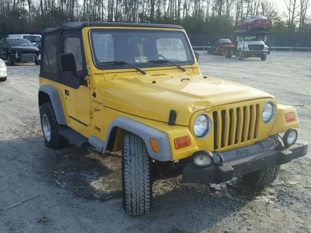 1J4FA49S22P735103 | 2002 YELLOW JEEP WRANGLER / on Sale in