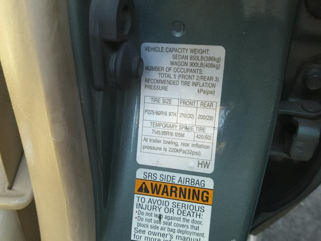 4S3BH806427645720 | 2002 GREEN SUBARU LEGACY OUT on Sale in