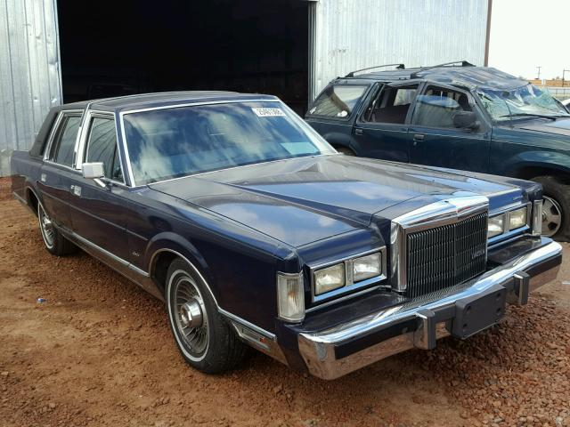 Auto Auction Ended On Vin 1lnbm82f6jy787709 1988 Lincoln Town Car S