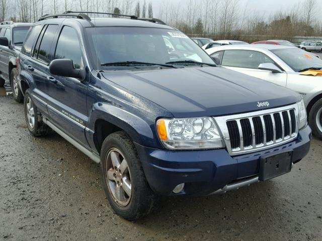 2004 jeep grand cherokee overland for sale wa north seattle salvage cars copart usa. Black Bedroom Furniture Sets. Home Design Ideas