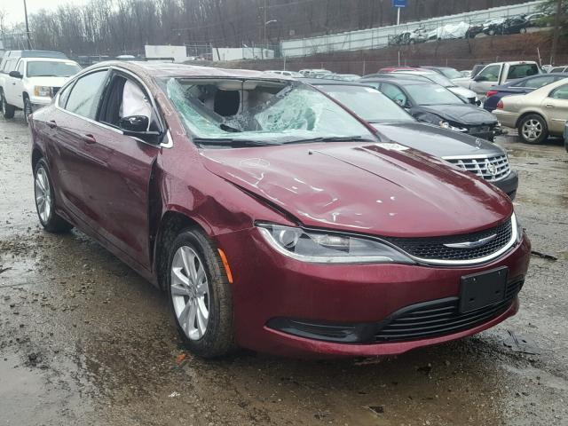 2017 chrysler 200 lx for sale pa pittsburgh south salvage cars copart usa. Black Bedroom Furniture Sets. Home Design Ideas