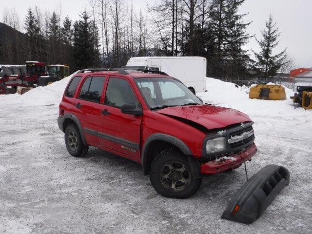 Chevrolet salvage cars for sale: 2001 Chevrolet Tracker ZR