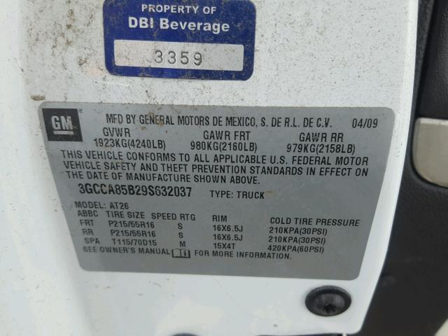 2009 Chevrolet Hhr Panel 2.2L