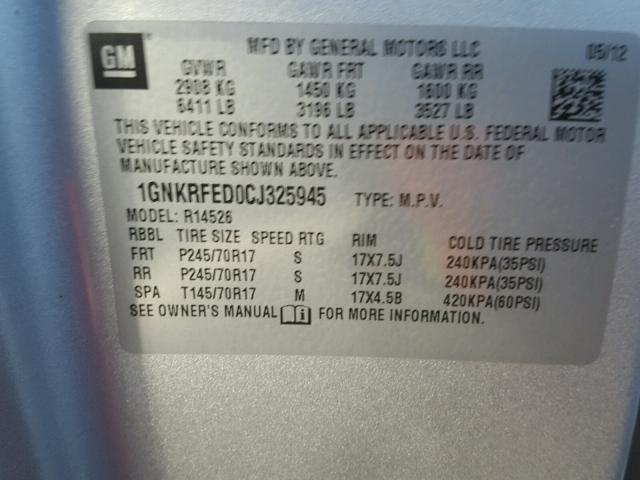 2012 Chevrolet Traverse L 3.6L