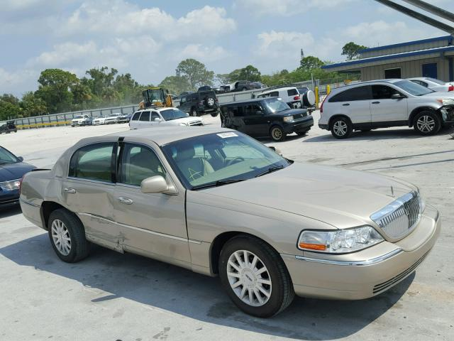 1lnhm81w67y635949 2007 Beige Lincoln Town Car S On Sale In Fl Ft