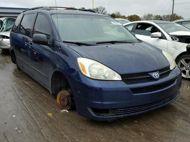 Salvage 2005 Toyota SIENNA CE for sale