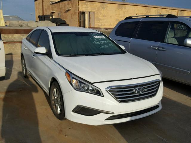 5npe24af3gh281797 2016 White Hyundai Sonata Se On