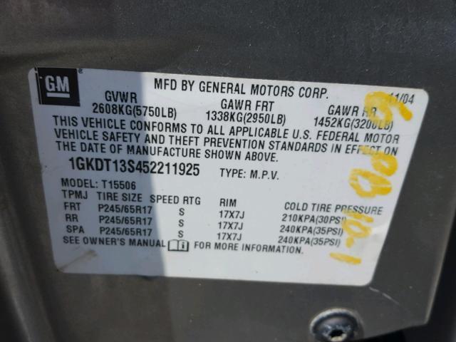 2005 GMC ENVOY 4.2L