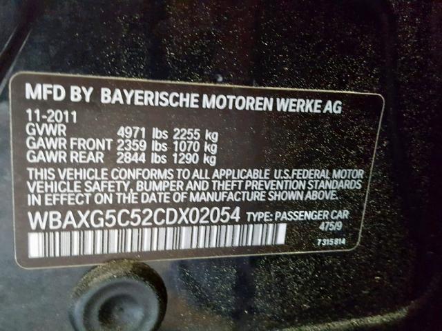 2012 Bmw 528 I 2.0L