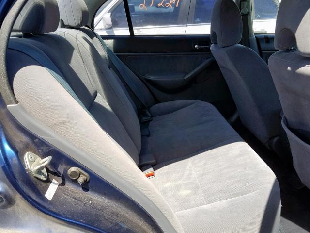 2003 Honda Civic Lx Sedan 4d 17l 4 Gas Blue للبيع San Martin