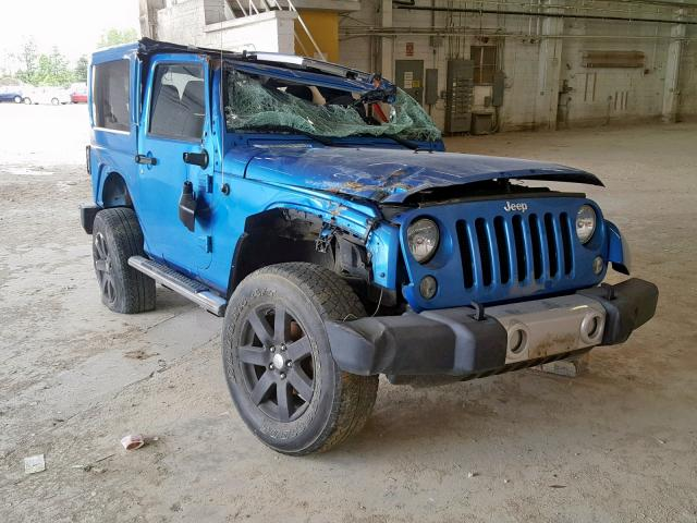 Salvage 2015 Jeep WRANGLER S for sale