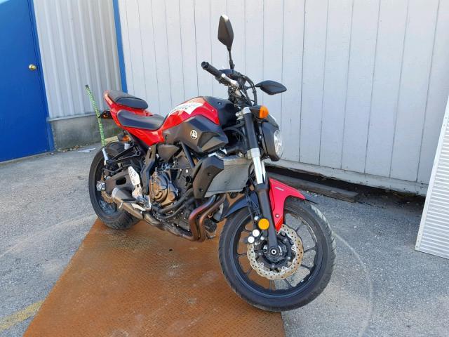 Salvage cars for sale from Copart Bridgeton, MO: 2017 Yamaha FZ07A