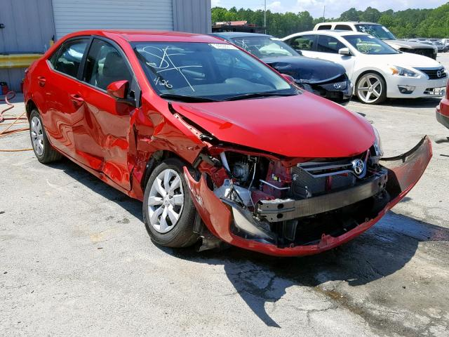 Salvage cars for sale from Copart Savannah, GA: 2016 Toyota Corolla L