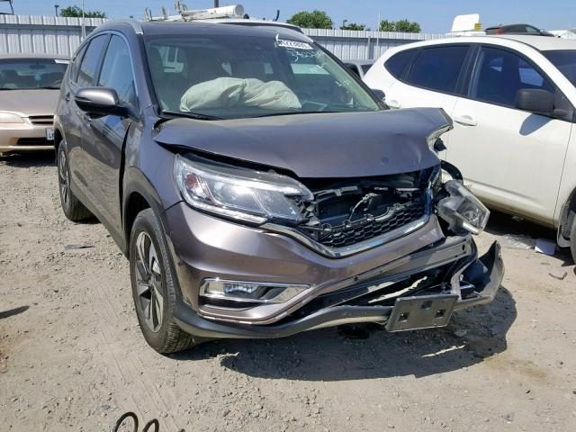 Honda CR-V Touring salvage cars for sale: 2016 Honda CR-V Touring