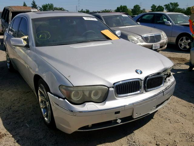 BMW 745 LI salvage cars for sale: 2005 BMW 745 LI