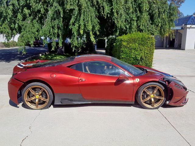 2015 Ferrari 458 Special For Sale At Copart Van Nuys Ca Lot 15658 Salvagereseller Com