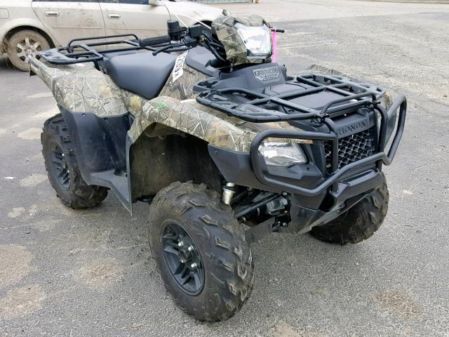 Honda TRX500 FA salvage cars for sale: 2018 Honda TRX500 FA