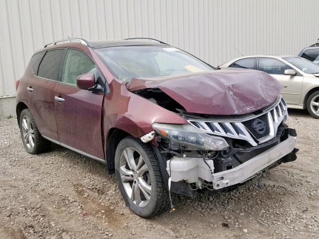 Salvage 2009 Nissan MURANO S for sale