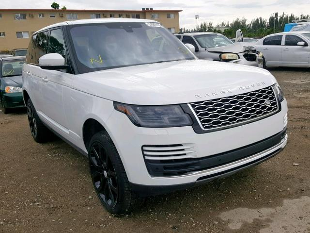 Salvage cars for sale from Copart Fort Pierce, FL: 2018 Land Rover Range Rover