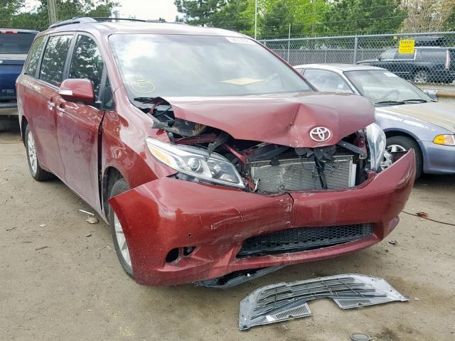 Salvage 2015 Toyota SIENNA XLE for sale